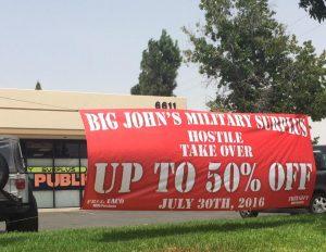 custom promotional banner