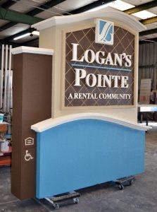custom monument sign production